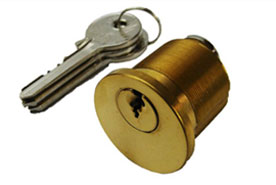 Screw in rim cylinder lock